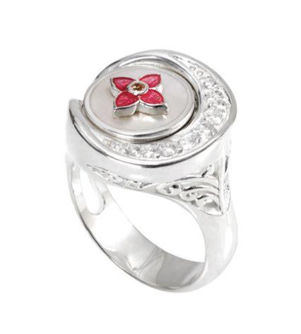side scoop cz ring kr037 size 6 kameleon jewelry