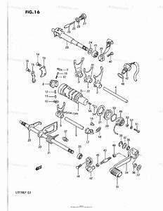Suzuki Atv 1991 Oem Parts Diagram For Gear Shifting