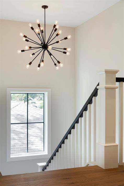 oil rubbed bronze sputnik chandelier  staircase