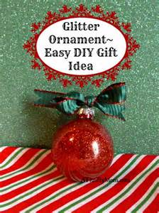 glitter christmas ornament diy gift idea