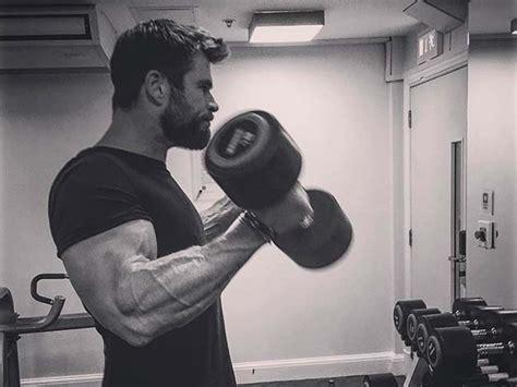 exact workout chris hemsworth   build god