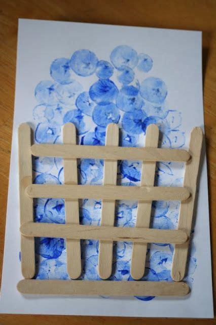 blueberry stamp craft  paint  fingerling potato