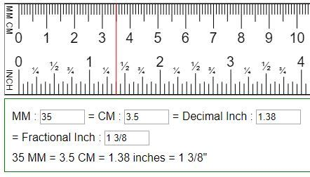 90mm to cm convert mm cm to fraction or decimal inches in mm cm
