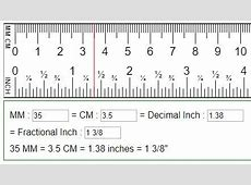 Convert mm, cm to fraction or decimal inches in=mm=cm