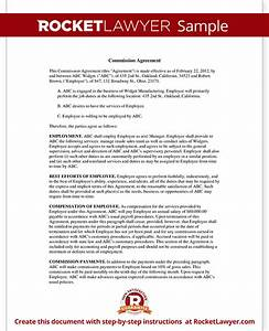 sales commission agreement template form with sample With sales commision agreement template