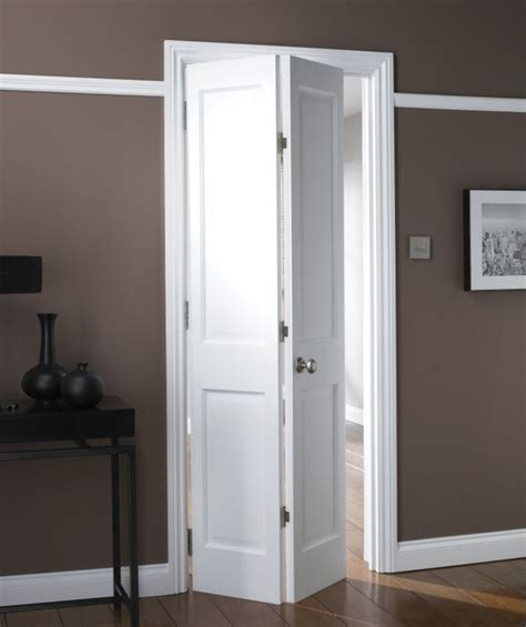 bq avesta  panel primed bi fold internal door natbiad