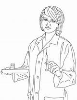 Nurse Coloring Pages Colouring Rn Netart Union Map sketch template
