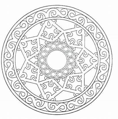 Mandalas Estrellas Colorear Dibujar Imprimir Mandala Pintar