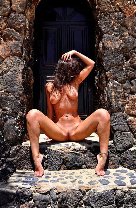 Naked Brunette Spreading Legs Outdoor November Voyeur Web Hall Of Fame