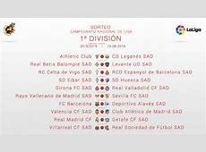 Calendario de LaLiga de fútbol 201819 Todos los