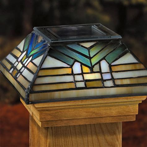 solar post cap light 6x6 glass