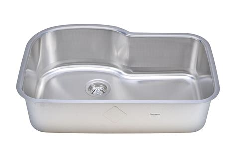 single bowl stainless kitchen sink sinkware 18 offset single bowl undermount 7957