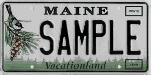 Maine Dmv Vanity Plates by Maine Of State Maine Government License