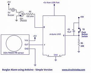 Burglar Alarm Circuit And Projects