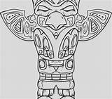 Totem Pole Coloring Getcolorings sketch template