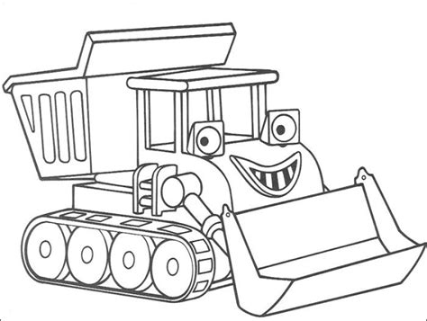 1) if you have javascript enabled you can click the print link in the top half of the page and it will automatically print the coloring page only and ignore the advertising and navigation at the top of the page. Muck The Bulldozer Coloring Pages - Bob The Builder ...