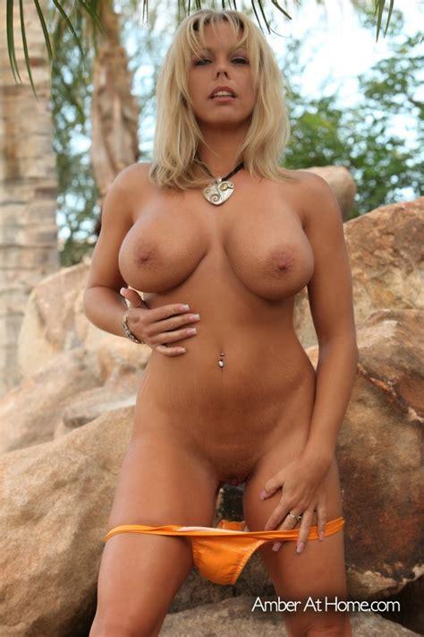 Amber Lynn Bach Orange Bikini