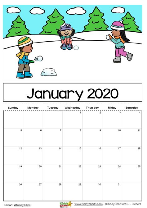 cute january calendar qualads