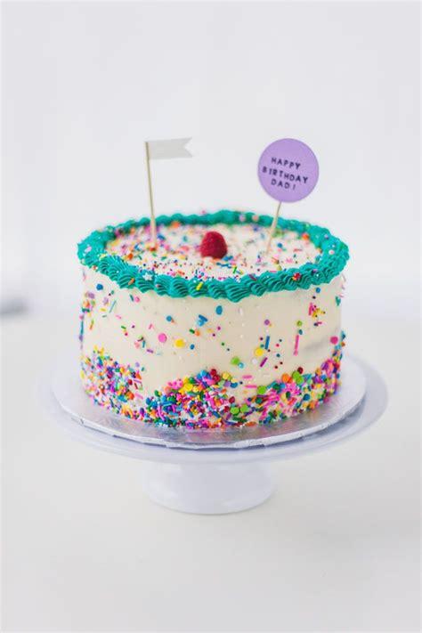 sprinkle birthday cakes ideas  pinterest