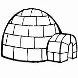 Igloo Coloring Pages Iglu sketch template
