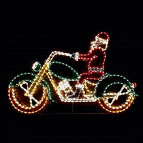 animated santa  motorcycle