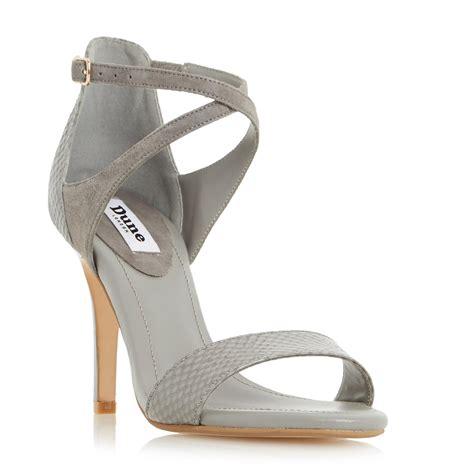 dune ladies madeleine strappy cross strap heeled sandal