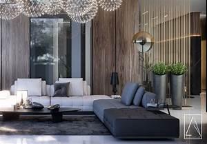 Modern, Reception, U0026, Toilet, Kuwait, Villa, On, Behance