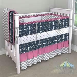 Navy Pink Nursery 17 best ideas about anchor bedding on pinterest nautical