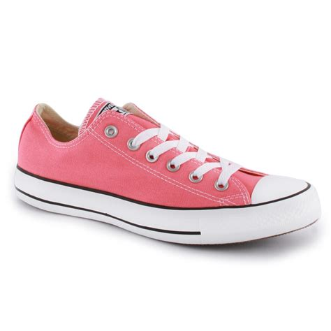 light pink converse converse chuck all ox womens trainers in light