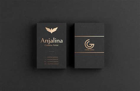 gold foil business card mockup psd template mockup