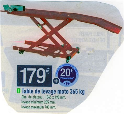 Table De Levage Moto