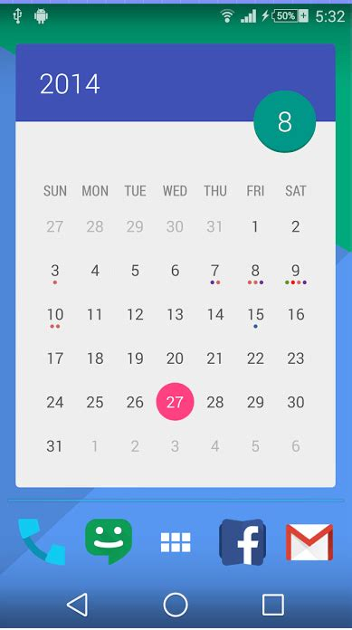 calendar widgets for android android get 70 beautiful calendar widget themes