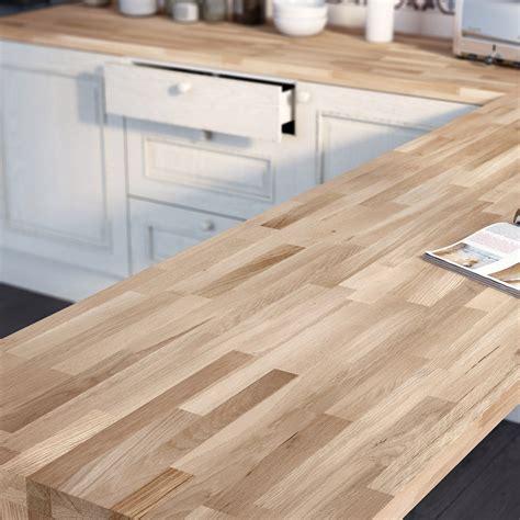 plan de travail cuisine darty plan de travail bois chêne brut mat l 250 x p 65 cm ep 38 mm leroy merlin