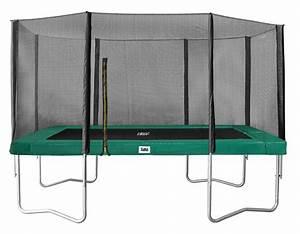 Trampolin Netz 366 : salta rechteck trampolin 244 x 396 mit sicherheitsnetz gr n ~ Whattoseeinmadrid.com Haus und Dekorationen
