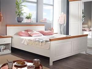 Doppelbett 180x200 Weiß : dover doppelbett 180x200 cm kiefer wei honig ~ Frokenaadalensverden.com Haus und Dekorationen