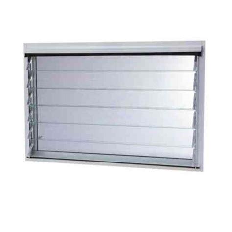 tafco windows      jalousie utility louver awning aluminum window  white