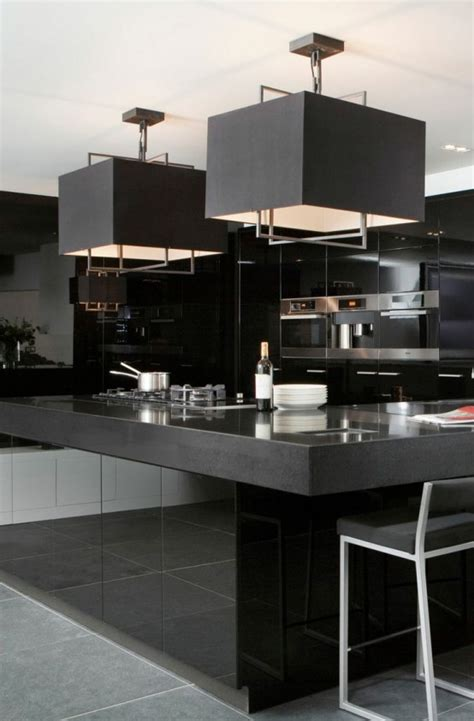 bold black kitchen design inspirations