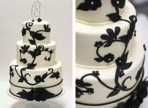 black and white wedding cake black and white wedding cakes gallery