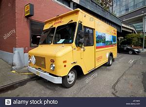 Dhl Delivery Hybrid Electric Bread Truck Van New York City