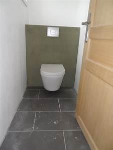cuisine noir laque avec ilot With salle de bain avec wc suspendu