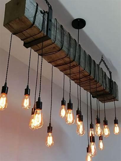 Industrial Decor Lights Fixture Railroad Tie Edison
