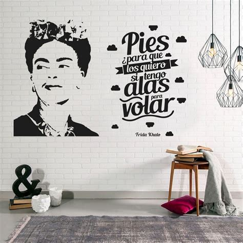 vinilo decorativo frida kahlo decoracion frase pared