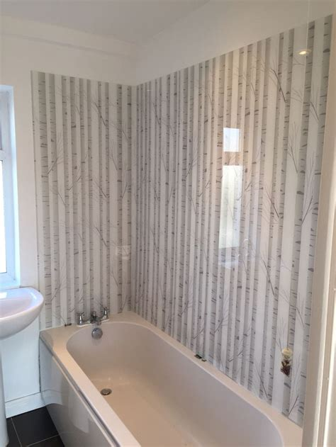 acrylic shower bath panels  woodland silhouette