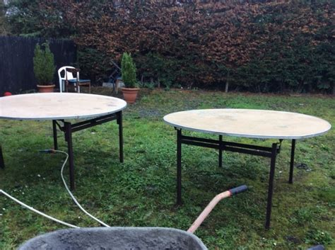 6 foot round table top eight five foot round tables chipboard tops six with