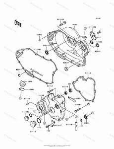 Kawasaki Atv 1993 Oem Parts Diagram For Engine Cover S