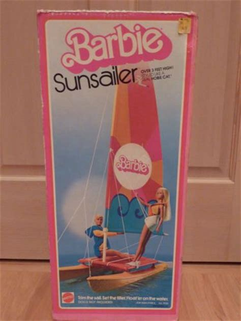 Barbie Paddle Boat by Mattel 1975 Barbie Sunsailer Catamaran Hobie Cat Sail Boat
