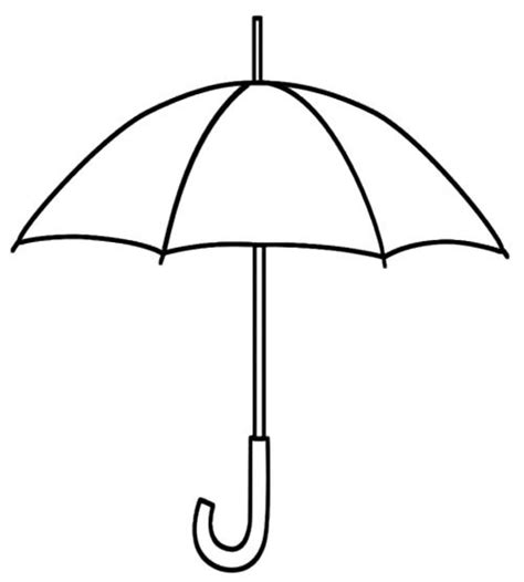 printable umbrella coloring page kids coloring pages