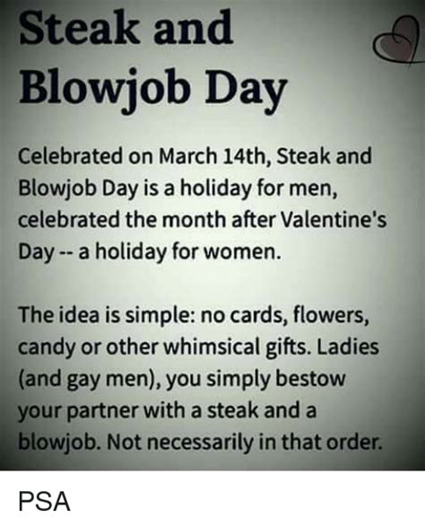Steak And Bj Meme - 25 best memes about steak and blowjob day steak and blowjob day memes