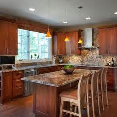 images of small kitchen designs transitional kitchen cherry cabinets with golden beaches 7505