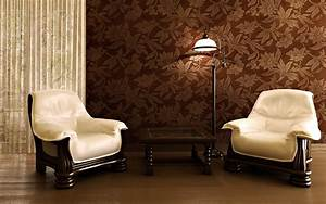 Engaging Living Room with Wallpaper Designs : Amusing